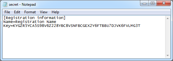 License file without encryption